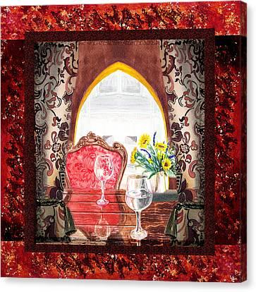 Home Sweet Home Decorative Design Welcoming Two Canvas Print by Irina Sztukowski