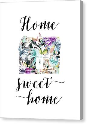 Home Sweet Home Floral Canvas Print by Tara Moss