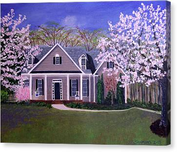 Canvas Print featuring the painting Home Sweet Home by Janet Greer Sammons