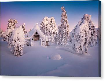 Shack Canvas Print - Home Sweet Home by Raymond Hoffmann