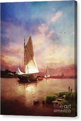 Impressionism Canvas Print - Home To The Harbor by Lianne Schneider