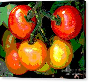 Homegrown Tomatoes Canvas Print by Annette Allman