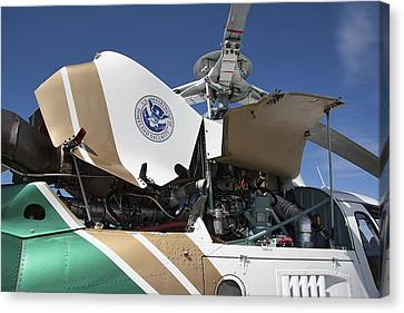 Homeland Security Hi-performance Helicopter Canvas Print by Daniel Hagerman