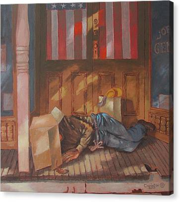 Homeless , Morning Son Canvas Print