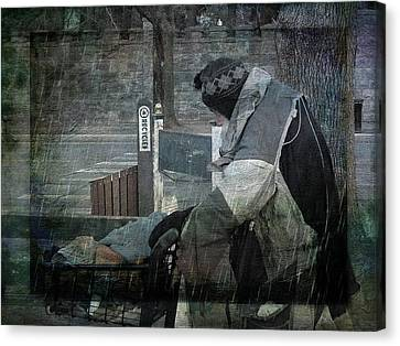 Homeless Man Canvas Print by Geoffrey Coelho
