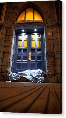 Homeless Saint Canvas Print by Ken Susi