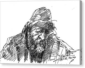Homeless Man Canvas Print - Homeless by Ylli Haruni