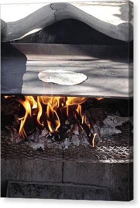 Canvas Print featuring the photograph Homemade Tortillas by Kerri Mortenson