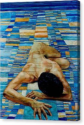 Homenaje A Paul Klee Canvas Print by Nancy Almazan