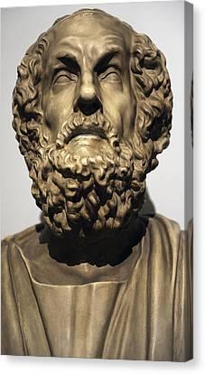 Homer  Canvas Print by Greek School