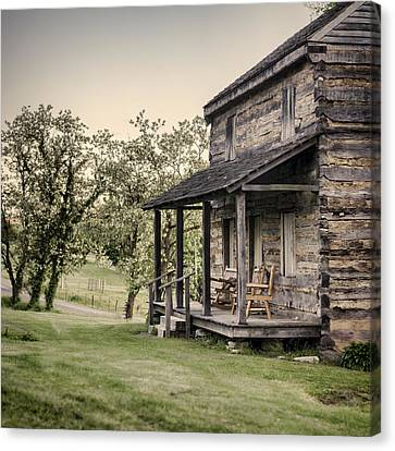 Homestead At Dusk Canvas Print by Heather Applegate