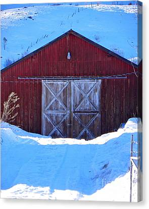 Homestead Barn Canvas Print by KD Johnson