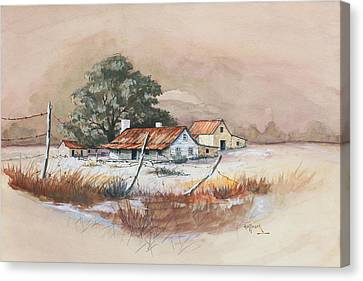 Homestead Canvas Print by Bob Hallmark