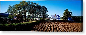 Plowed Fields Canvas Print - Homestead In Southern Utah, Usa by Panoramic Images
