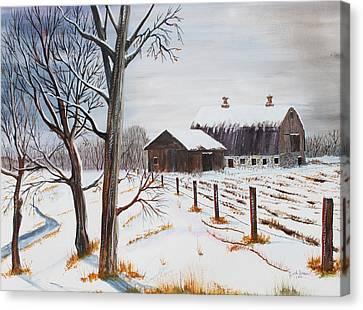 Jack Brauer Canvas Print - Homestead Memories by Jack G  Brauer