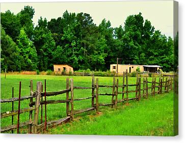 Homestead Canvas Print by Paulette B Wright