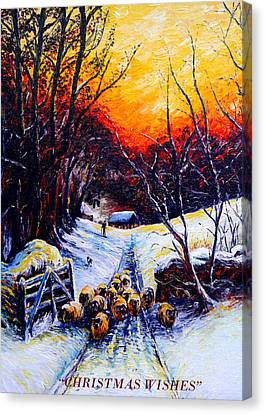 Homeward Bound Christmas Card Canvas Print by Andrew Read