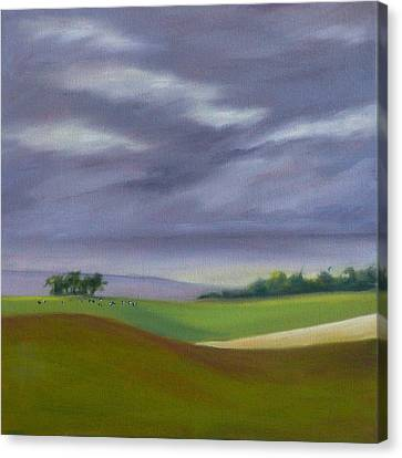 Canvas Print featuring the painting Homeward Bound Left by Jo Appleby
