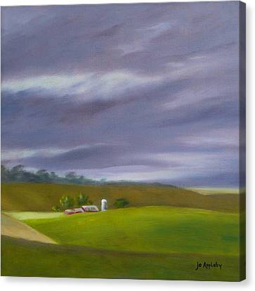 Canvas Print featuring the painting Homeward Bound Right by Jo Appleby