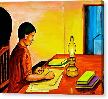 Pinoy Canvas Print - Homework by Cyril Maza