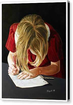 Homework Canvas Print by Robert Tracy
