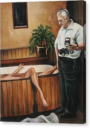 Homicide Photographer  Canvas Print by Melinda Saminski