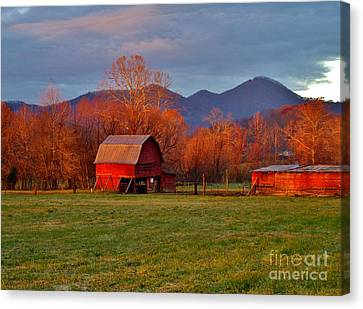 Hominy Valley Mornin' Canvas Print by Hominy Valley Photography