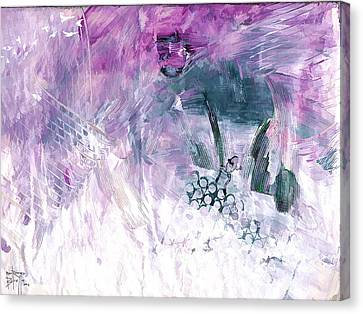 Canvas Print featuring the painting Hommage by Ron Richard Baviello