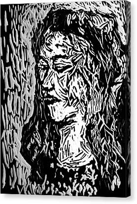 Homoface #11 Canvas Print by Alfredo Gonzalez