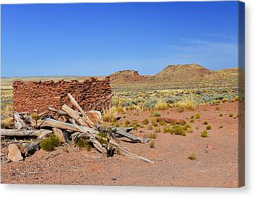 Homolovi Ruins State Park Arizona Canvas Print by Christine Till
