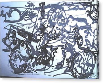 Honda 1000 Canvas Print by Godfrey McDonnell