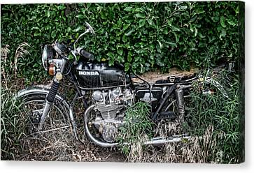 Honda 450 Motorcycle Canvas Print by Britt Runyon