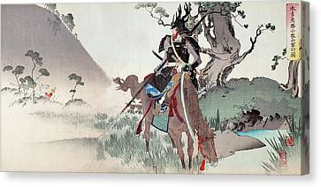 Honda Tadakatsu At Komaki Canvas Print by Paul D Stewart