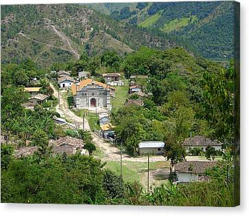 Honduras Mountain Village Canvas Print by Lew Davis