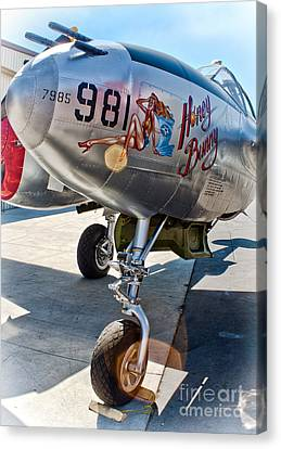 Honey Bunny - P-38 Airplane Canvas Print by Gregory Dyer