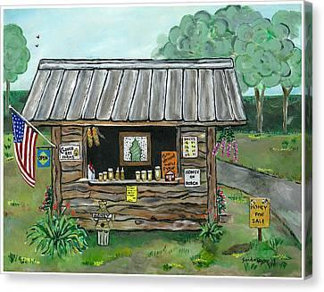 Honey For Sale Canvas Print by Sandie Keyser