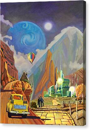 Canvas Print featuring the painting Honeymoon In Oz by Art West