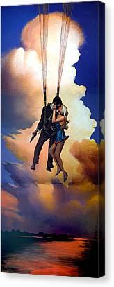 Honeymoon Over Zagreb Canvas Print by Geoff Greene