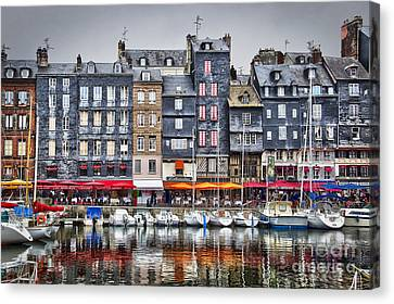 Port Town Canvas Print - Honfleur by Delphimages Photo Creations