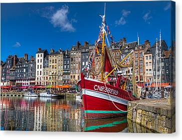 Canvas Print featuring the photograph Honfleur Normandy by Tim Stanley