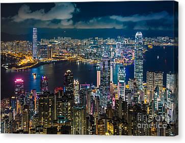 Hong Kong 10 Canvas Print by Tom Uhlenberg