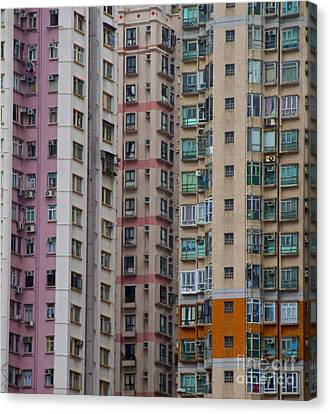 Hong Kong Buildings  Canvas Print by Sarah Mullin