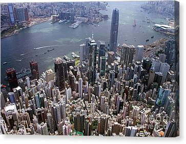Hong Kong Central From Above Canvas Print
