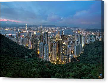 Hong Kong From Sky Terrace 428 At Victoria Peak Canvas Print