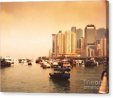 Hong Kong Canvas Print - Hong Kong Harbour 02 by Pixel Chimp