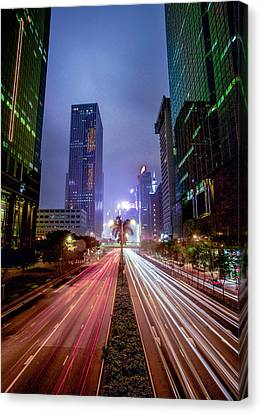 Canvas Print featuring the photograph Hong Kong Highway by Robert  Aycock