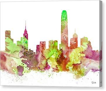 Hong Kong Canvas Print - Hong Kong by Watercolor Girl
