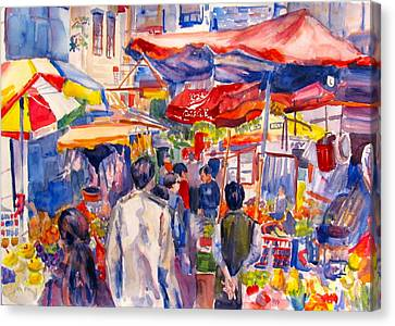 Hong Kong Market Canvas Print by Joyce Kanyuk
