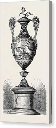 Hong Kong Canvas Print - Hong Kong Races The Barristers Cup 1861 by English School