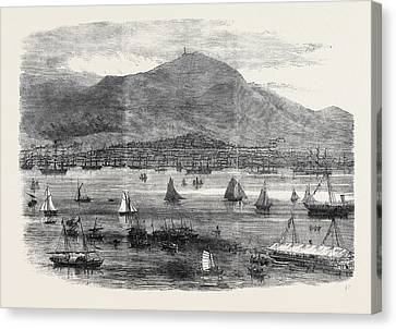 Hong Kong Canvas Print - Hong Kong Regatta The Start For The Scratch Match 1869 by English School